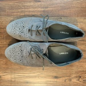 Old Navy Faux Suede Oxford Flats